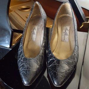 Vintage Almafi snake skin heels